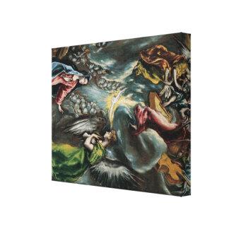 Arte de El Greco Lona Envuelta Para Galerías