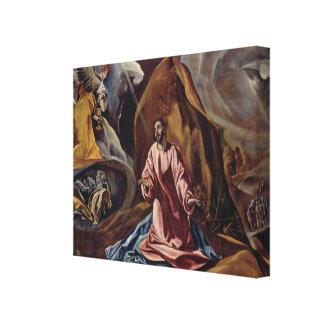 Arte de El Greco Lona Envuelta Para Galerias