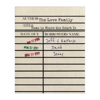 Arte de encargo de la familia de la tarjeta de