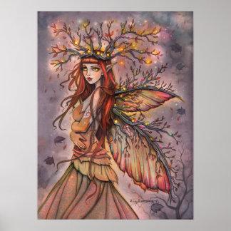 Arte de hadas de la fantasía de la reina del otoño