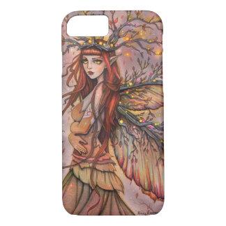 Arte de hadas de la fantasía de la reina del otoño funda iPhone 7