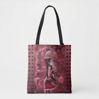 Arte de hadas de la fantasía de los corazones por bolsa de tela