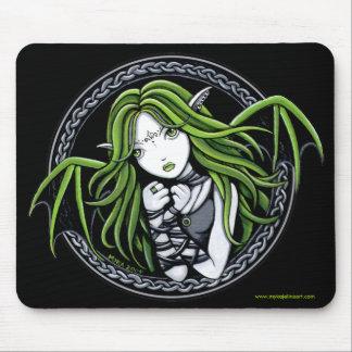 Arte de hadas Mousepad del palo verde gótico