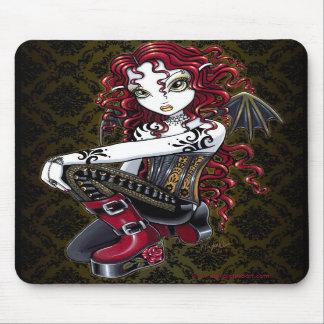 Arte de hadas Mousepad del tatuaje gótico del rosa