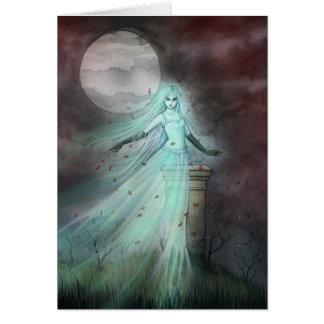 Arte de Halloween de la fantasía del fantasma de Tarjeta De Felicitación