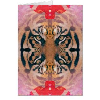 Arte de Kaliedi Digital del tigre Tarjeta De Felicitación