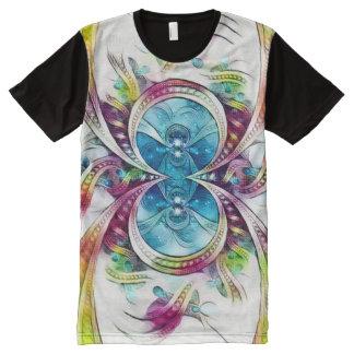 Arte de la acuarela del símbolo del infinito de la camiseta con estampado integral