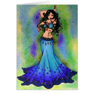 Arte de la bailarina de la danza del vientre de Pi Tarjetón