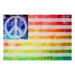 Arte de la bandera del monstruo de la paz del Hipp