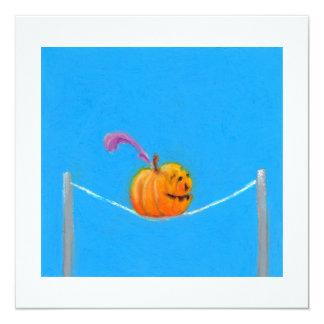 Arte de la calabaza - circo colorido del dibujo de invitación 13,3 cm x 13,3cm