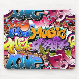 Arte de la calle de la pintada alfombrilla de ratón