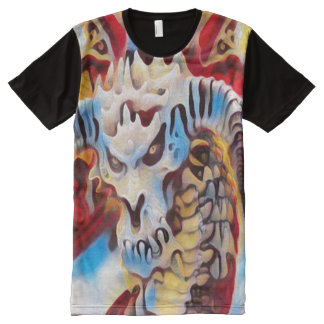 Arte de la calle de la pintada de la fantasía del camiseta con estampado integral