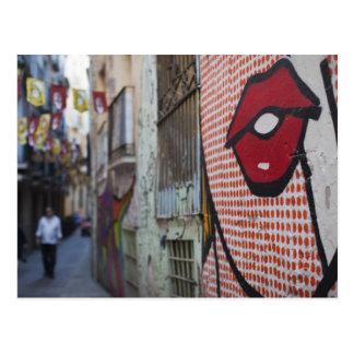 Arte de la calle en la calle de Calle de la Libert Tarjeta Postal