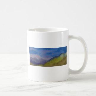 Arte de la cordillera taza de café