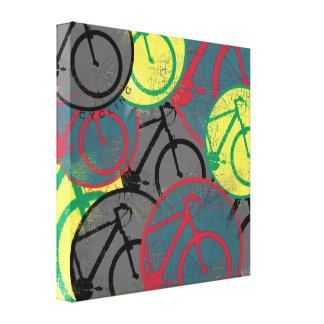 arte de la decoración de la bici impresión en lienzo estirada