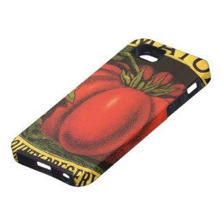 Arte de la etiqueta del cajón de la fruta del vint iPhone 5 cárcasas