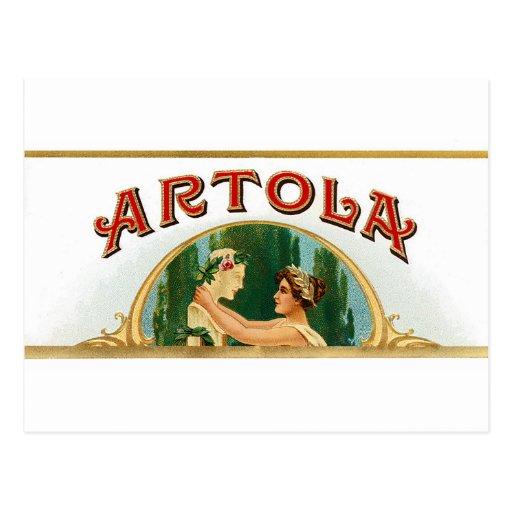 Arte de la etiqueta del cigarro de Artola del vint Tarjetas Postales
