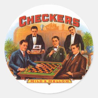 Arte de la etiqueta del cigarro del vintage,
