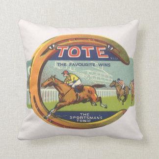 Arte de la etiqueta del producto del vintage, el cojín decorativo