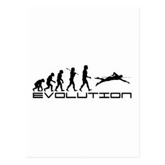 Arte de la evolución del deporte del nadador de la tarjetas postales