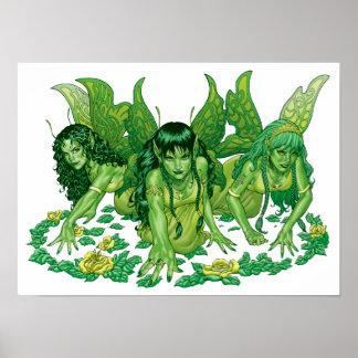 Arte de la fantasía de tres hadas de la tierra por
