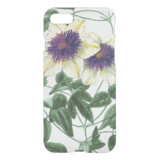 Arte de la flor del Clematis Funda Para iPhone 7