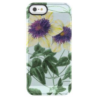 Arte de la flor del Clematis Funda Transparente Para iPhone SE/5/5s