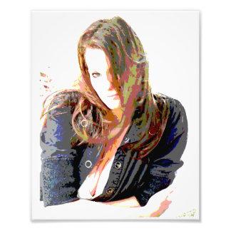 Arte de la foto - pelo largo del chica