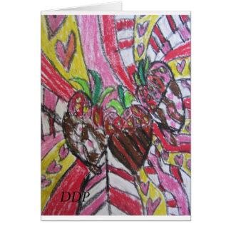 Arte de la fresa tarjeta de felicitación