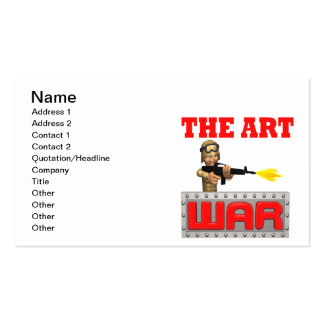 Arte de la guerra tarjetas de visita