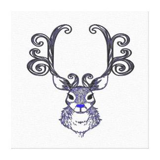 Arte de la impresión de los ciervos de Bluenoser