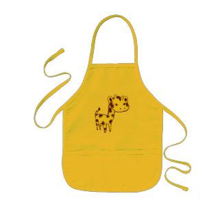 Arte de la jirafa/delantal amarillos lindos el coc delantal infantil