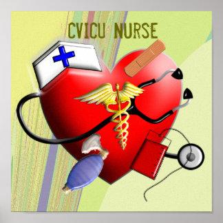 Arte de la lona de la enfermera de CVICU