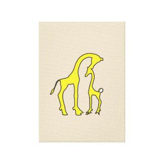 Arte de la lona de la jirafa