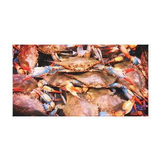 Lienzo Arte de la lona de los cangrejos azules de la