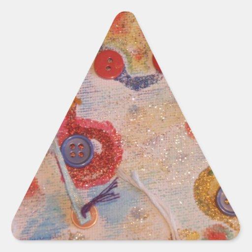 Arte de la lona calcomanía triangulo