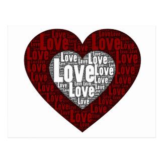 Arte de la palabra: Amor en un corazón doble Postales