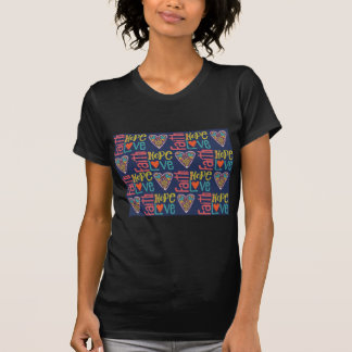 Arte de la palabra de la esperanza y del amor de camiseta