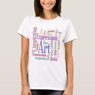 Arte de la palabra de la inspiración del artista camiseta