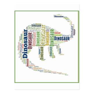 Arte de la palabra del dinosaurio tarjeta postal