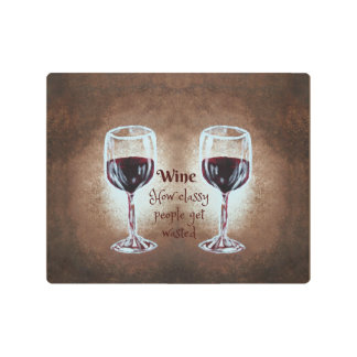 Arte de la pared de copa de vino -- Metal