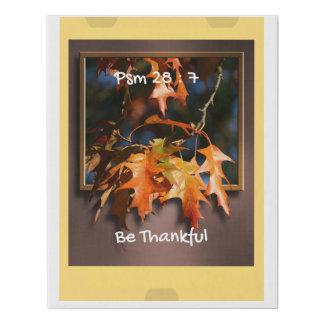 Arte de la pared de la acción de gracias, regalo