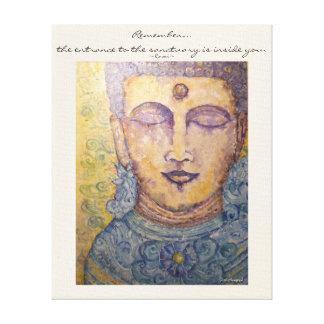 Arte de la pared de la lona de la acuarela de Buda