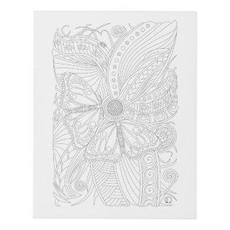 Arte de la pared de la mariposa de monarca en