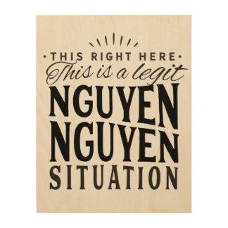 Impresión En Madera Arte de la pared de la situación de Nguyen Nguyen