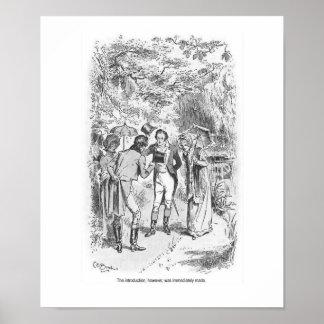 Arte de la pared de las señoras de Jane Austen del