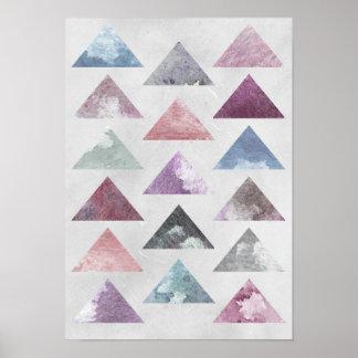 Arte de la pared de los triángulos