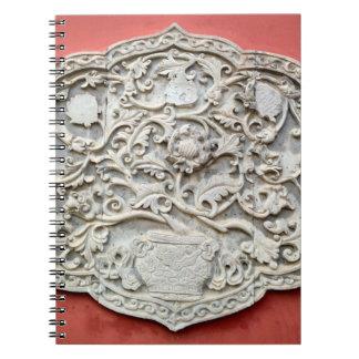 Arte de la pared del templo libretas espirales