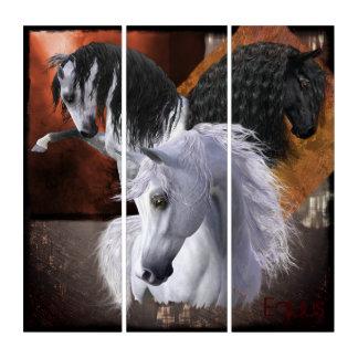 Arte de la pared del tríptico de AcryliPrint®HD de