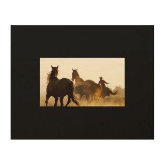 arte de la pared del vaquero